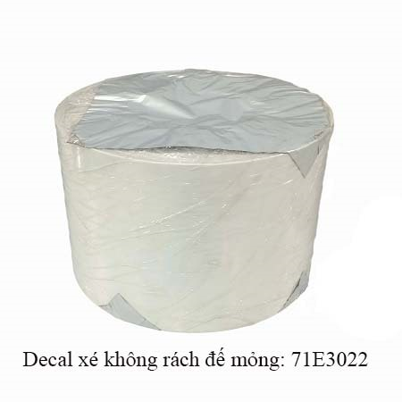 Decal nhựa pvc xé không rách in ấn tem nhãn