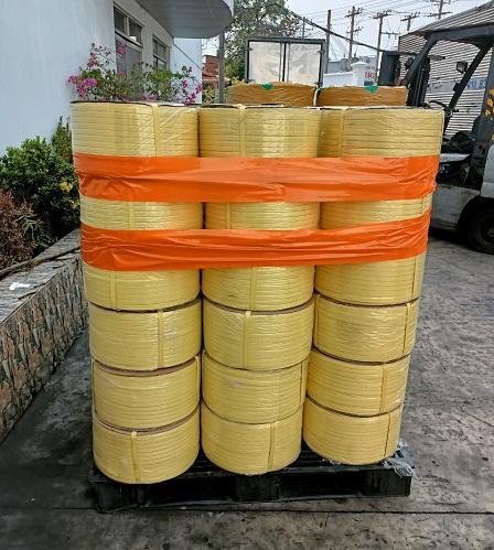 Dây đai pp 1F2 màu vàng dùng để buộc hàng (Giá sỉ)